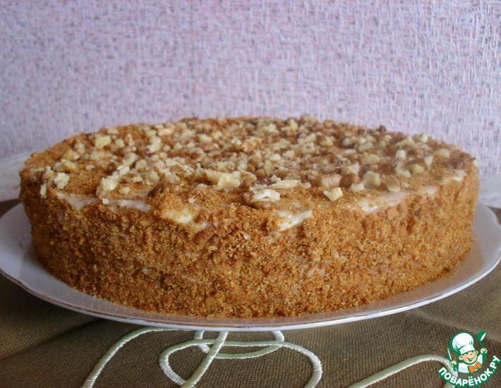 Рецепт: Торт Дамский каприз
