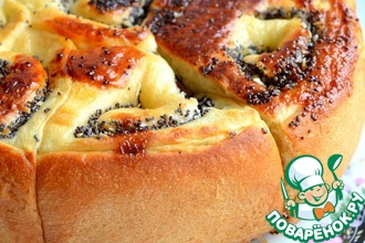 Рецепт: Пирог с маком и кокосовой стружкой