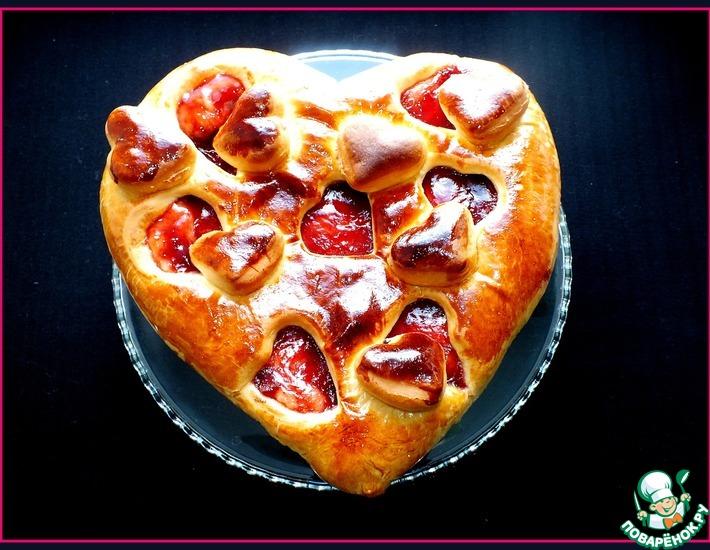 Рецепт: Пирог Клубничная любовь