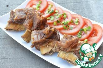 Рецепт: Говяжьи ребрышки в бальзамико-медовом маринаде