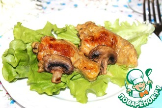 Рецепт: Фаршированые куриные голени, томленые в сметанном соусе