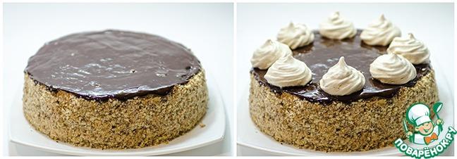 """Бисквитный торт с безе """"Паутинка"""""""