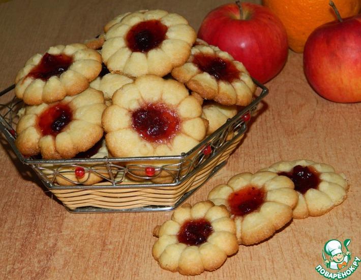 Рецепт: Печенье песочное с джемом