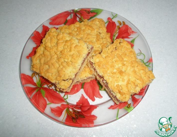 Рецепт: Австрийское печенье с малиновым джемом