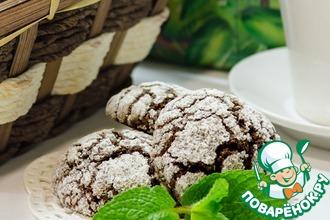 Рецепт: Шоколадно-мятное печенье