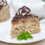 Бисквитный торт с безе Паутинка