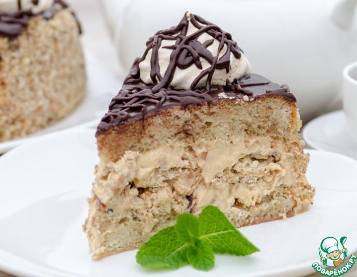 Рецепт: Бисквитный торт с безе Паутинка