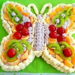 Торт-безе Бабочка с черничным кремом