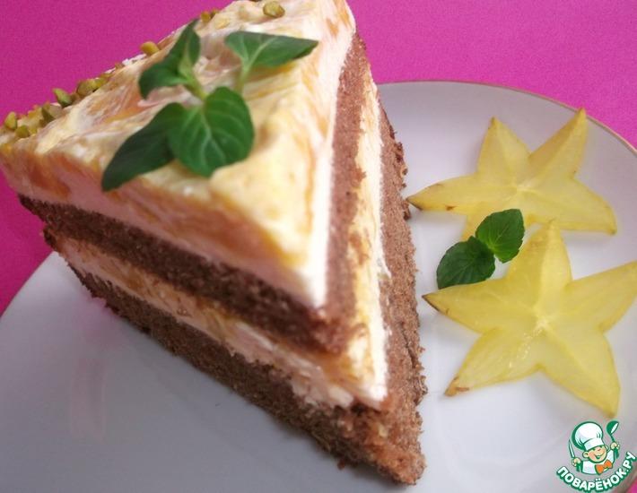 Рецепт: Пряничный мангово-йогуртовый торт