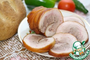 Roll of pork shank in a slow cooker