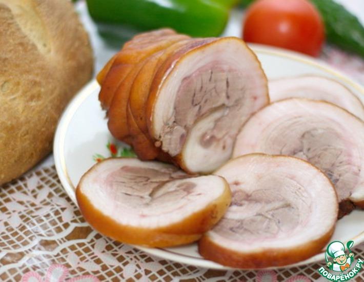 Рецепт: Рулет из свиной рульки в мультиварке