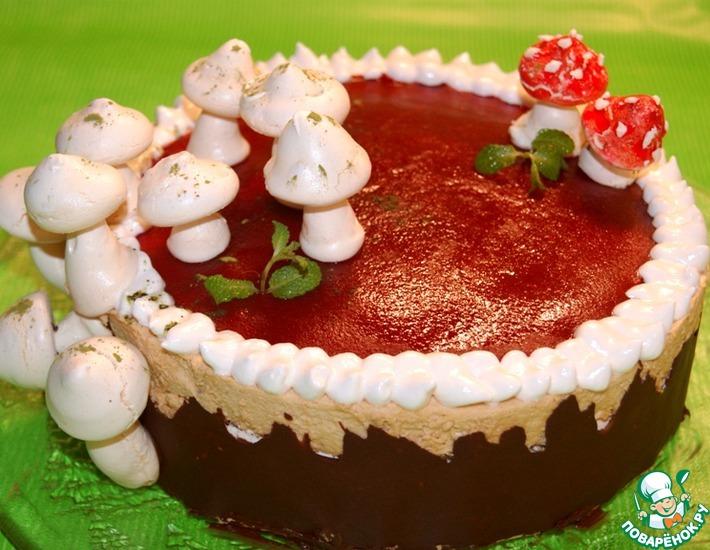 Рецепт: Торт-безе Солнечный пенек