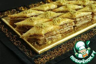 Рецепт: Слоеный десерт Восточный