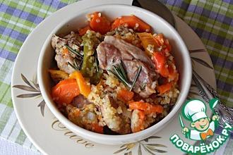 Рецепт: Кролик с овощами и булгуром
