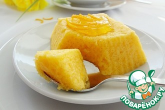 Рецепт: Пирожное-суфле Оранжевая нежность