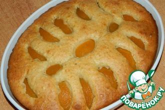 Рецепт: Творожный пирог с персиками
