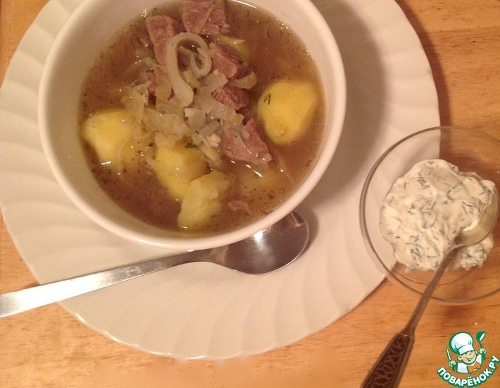 Рецепт: Суп Лывжа с говядиной
