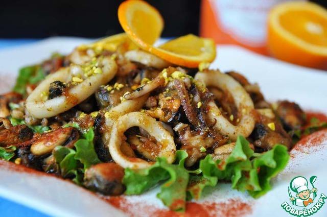 Салаты из морепродукты