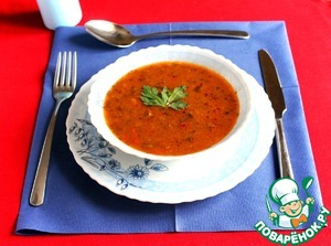 Goulash soup in a slow cooker