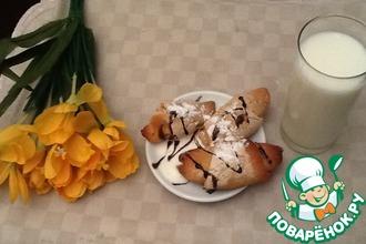 Рецепт: Постные рогалики Весенний завтрак