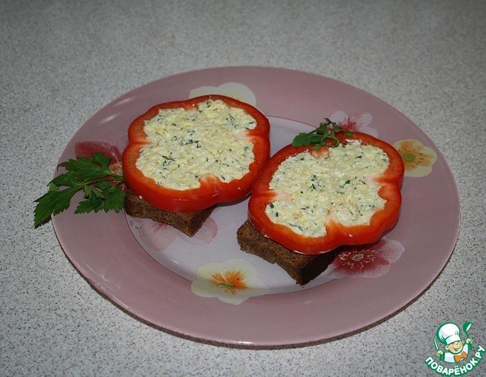 Рецепт: Бутерброды с болгарским перцем