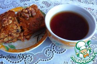 Рецепт: Печенье с грушей, финиками и орехами