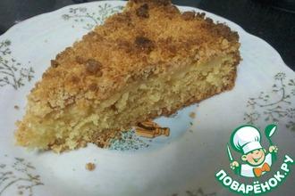 Рецепт: Яблочный пирог с крошкой