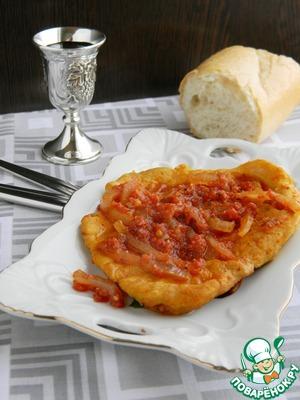 Мясные отбивные в томатном соусе