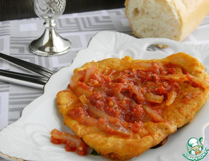 Рецепт: Мясные отбивные в томатном соусе