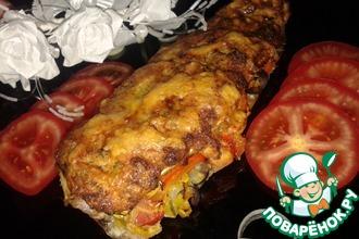 Рецепт: Сельдь, запеченная с овощами под сырной корочкой