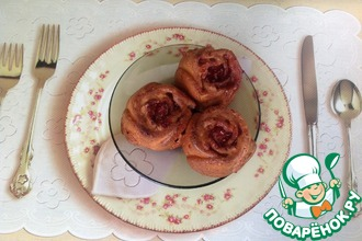 Рецепт: Кексы с малиновым джемом Дуэт