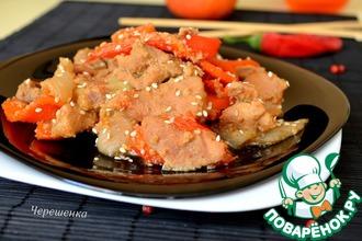 Рецепт: Свинина в яблочно-имбирном маринаде