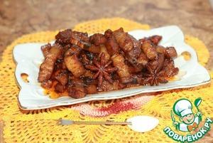 Roast pork belly red