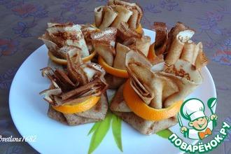 Рецепт: Блинчики с шоколадно-миндальной начинкой