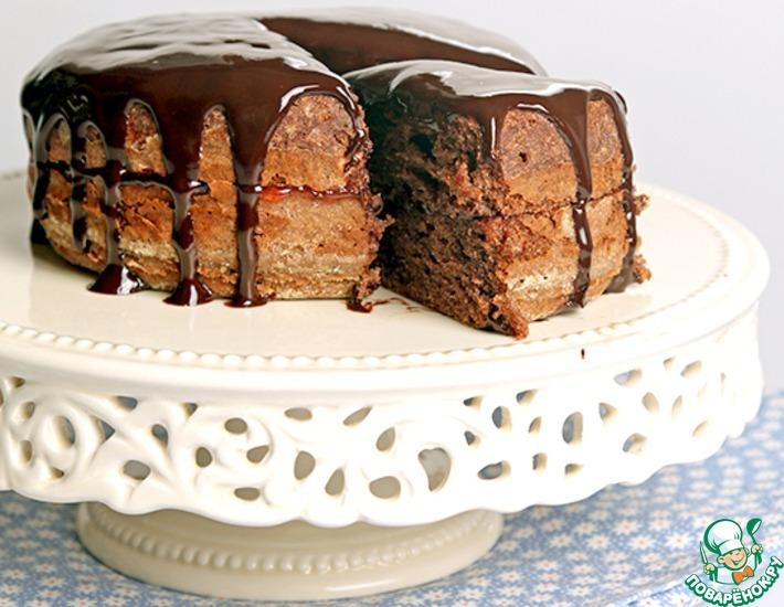 Рецепт: Шоколадный пирог с джемом