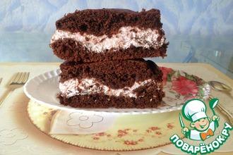 Рецепт: Шоколадно-малиновый пирог Мгновение