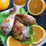 Куриные голени, запеченные с апельсиновым джемом