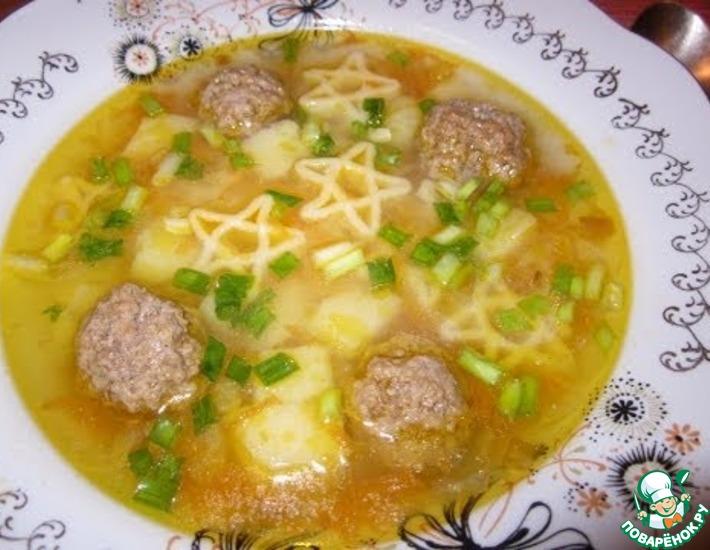 Рецепт: Быстрый суп с фрикадельками