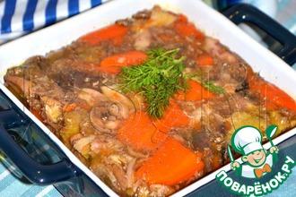 Рецепт: Куриный сальтисон с морковью в мультиварке
