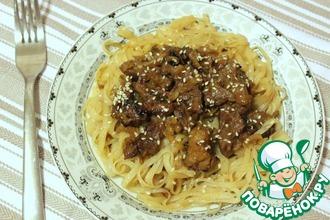 Рецепт: А-ля стир-фрай из телятины