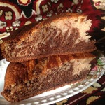 Пирог Клубнично-шоколадная зебра