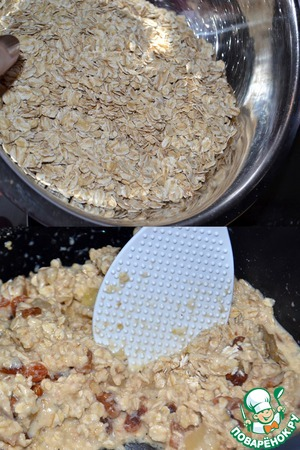 """Pour cereal and mix well. Cook 4-6 minutes """"Soup"""" and forcibly turning off the slow cooker."""