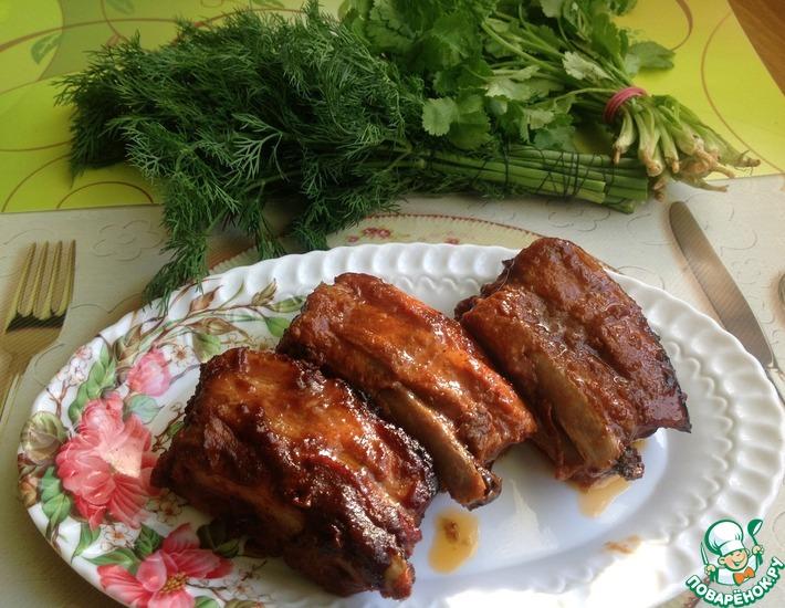 Рецепт: Грудинка свиная Шашлычная