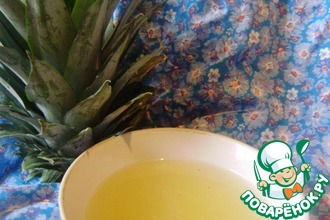 Рецепт: Сироп ананасово-имбирный Утилизация отходов