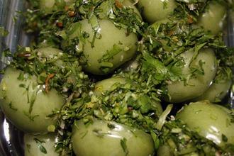 Рецепт: Зеленые помидоры По-грузински