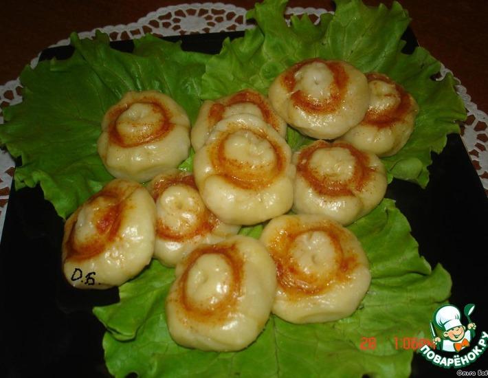 Рецепт: Пирожки на пару Грибочки
