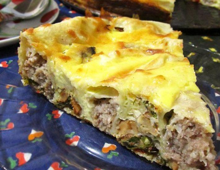 Рецепт: Воскресный пирог из лаваша