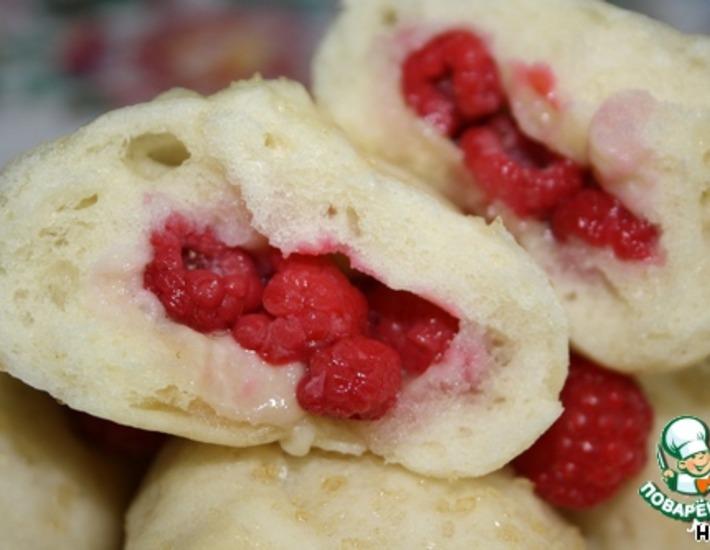 Рецепт: Вареники Воздушные на пару с ягодами