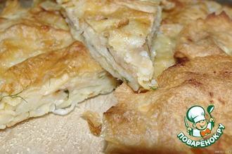 Рецепт: Пирог из лаваша Ленивый хычин