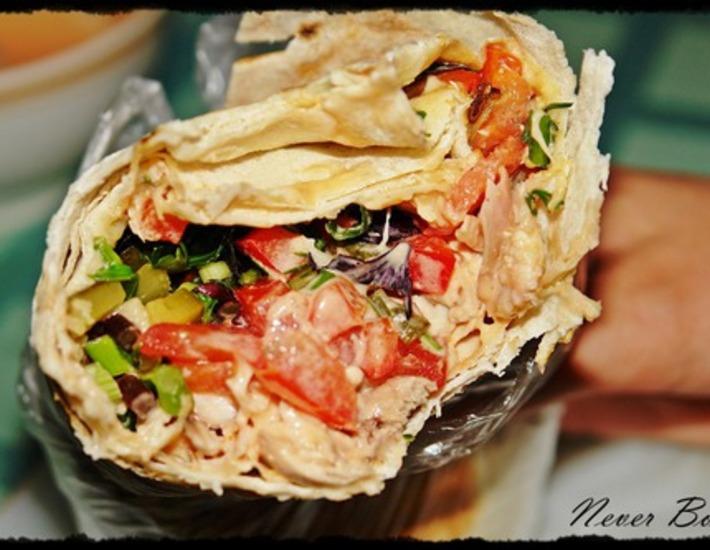 Рецепт: Салат в лаваше А-ля шаурма
